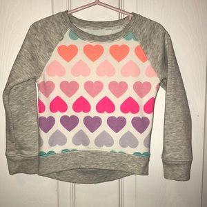 Children's Play Heart Pattern Sweater